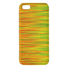 Green And Oragne Iphone 5s/ Se Premium Hardshell Case by Valentinaart