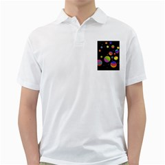Colorful Galaxy Golf Shirts by Valentinaart