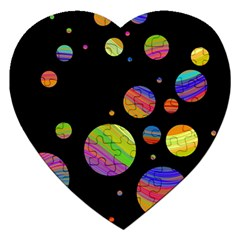 Colorful Galaxy Jigsaw Puzzle (heart) by Valentinaart