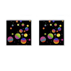 Colorful Galaxy Cufflinks (square) by Valentinaart