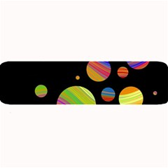 Colorful Galaxy Large Bar Mats by Valentinaart