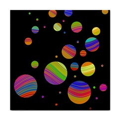 Colorful Galaxy Face Towel by Valentinaart