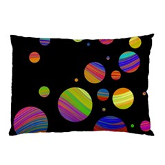 Colorful Galaxy Pillow Case (two Sides) by Valentinaart