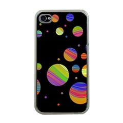 Colorful Galaxy Apple Iphone 4 Case (clear) by Valentinaart