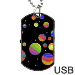Colorful Galaxy Dog Tag Usb Flash (one Side) by Valentinaart