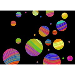 Colorful Galaxy Birthday Cake 3d Greeting Card (7x5) by Valentinaart