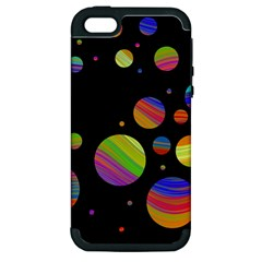Colorful Galaxy Apple Iphone 5 Hardshell Case (pc+silicone) by Valentinaart