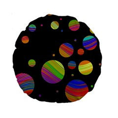 Colorful Galaxy Standard 15  Premium Round Cushions by Valentinaart