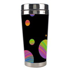 Colorful Galaxy Stainless Steel Travel Tumblers by Valentinaart