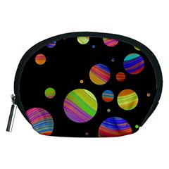 Colorful Galaxy Accessory Pouches (medium)  by Valentinaart