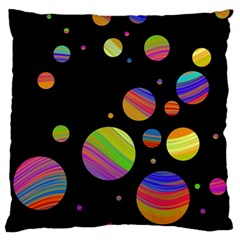 Colorful Galaxy Standard Flano Cushion Case (one Side) by Valentinaart