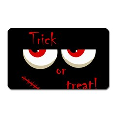 Halloween  trick Or Treat    Monsters Red Eyes Magnet (rectangular) by Valentinaart