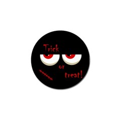 Halloween  trick Or Treat    Monsters Red Eyes Golf Ball Marker (4 Pack) by Valentinaart