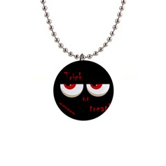 Halloween  trick Or Treat    Monsters Red Eyes Button Necklaces by Valentinaart