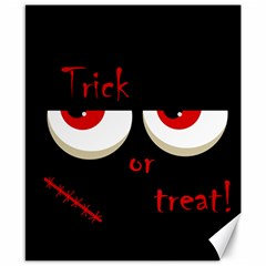 Halloween  trick Or Treat    Monsters Red Eyes Canvas 8  X 10  by Valentinaart