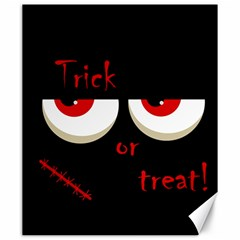 Halloween  trick Or Treat    Monsters Red Eyes Canvas 20  X 24   by Valentinaart