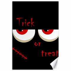 Halloween  trick Or Treat    Monsters Red Eyes Canvas 20  X 30   by Valentinaart