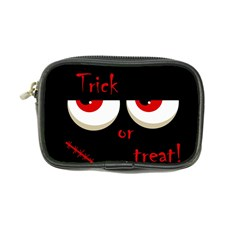 Halloween  trick Or Treat    Monsters Red Eyes Coin Purse by Valentinaart