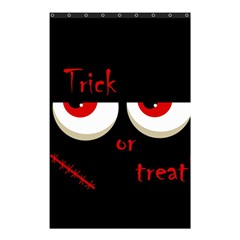 Halloween  trick Or Treat    Monsters Red Eyes Shower Curtain 48  X 72  (small)  by Valentinaart
