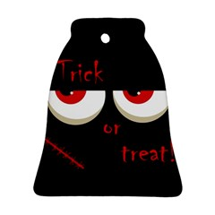 Halloween  trick Or Treat    Monsters Red Eyes Bell Ornament (2 Sides)
