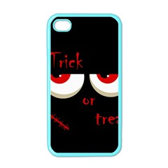 Halloween  trick Or Treat    Monsters Red Eyes Apple Iphone 4 Case (color) by Valentinaart