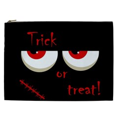 Halloween  trick Or Treat    Monsters Red Eyes Cosmetic Bag (xxl)  by Valentinaart