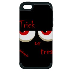 Halloween  trick Or Treat    Monsters Red Eyes Apple Iphone 5 Hardshell Case (pc+silicone) by Valentinaart