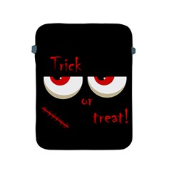 Halloween  trick Or Treat    Monsters Red Eyes Apple Ipad 2/3/4 Protective Soft Cases by Valentinaart