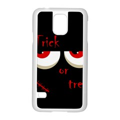 Halloween  trick Or Treat    Monsters Red Eyes Samsung Galaxy S5 Case (white) by Valentinaart