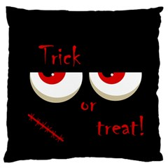 Halloween  trick Or Treat  - Monsters Red Eyes Standard Flano Cushion Case (two Sides) by Valentinaart