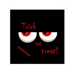 Halloween  trick Or Treat    Monsters Red Eyes Small Satin Scarf (square) by Valentinaart