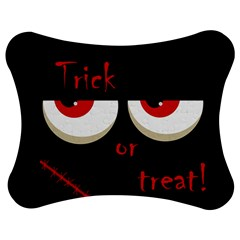 Halloween  trick Or Treat    Monsters Red Eyes Jigsaw Puzzle Photo Stand (bow) by Valentinaart
