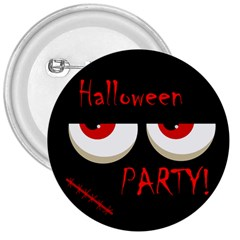 Halloween Party   Red Eyes Monster 3  Buttons by Valentinaart