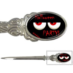 Halloween Party   Red Eyes Monster Letter Openers by Valentinaart