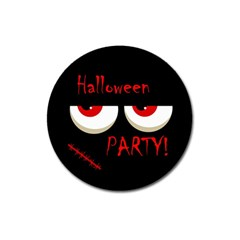 Halloween Party   Red Eyes Monster Magnet 3  (round) by Valentinaart