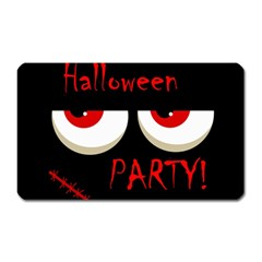 Halloween Party   Red Eyes Monster Magnet (rectangular) by Valentinaart