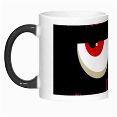 Halloween Party   Red Eyes Monster Morph Mugs by Valentinaart