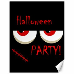 Halloween Party   Red Eyes Monster Canvas 12  X 16   by Valentinaart