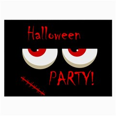 Halloween Party   Red Eyes Monster Large Glasses Cloth (2 Side) by Valentinaart