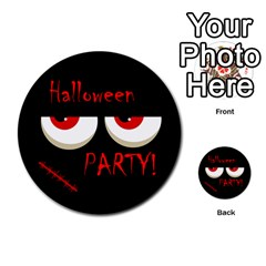Halloween Party   Red Eyes Monster Multi Purpose Cards (round)