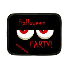 Halloween Party   Red Eyes Monster Netbook Case (small)  by Valentinaart