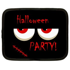 Halloween Party   Red Eyes Monster Netbook Case (large) by Valentinaart