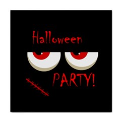 Halloween Party   Red Eyes Monster Face Towel by Valentinaart