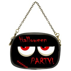 Halloween Party   Red Eyes Monster Chain Purses (one Side)  by Valentinaart