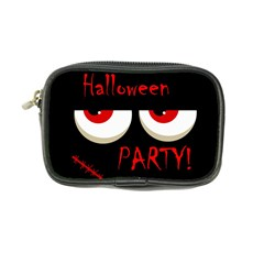 Halloween Party   Red Eyes Monster Coin Purse by Valentinaart