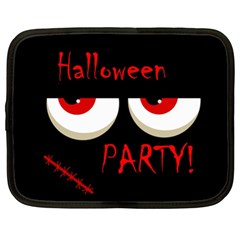 Halloween Party   Red Eyes Monster Netbook Case (xl)  by Valentinaart