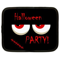 Halloween Party   Red Eyes Monster Netbook Case (xxl)  by Valentinaart