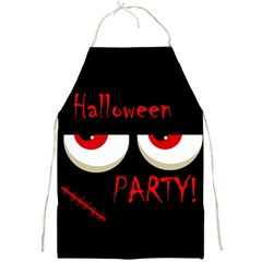Halloween Party   Red Eyes Monster Full Print Aprons by Valentinaart