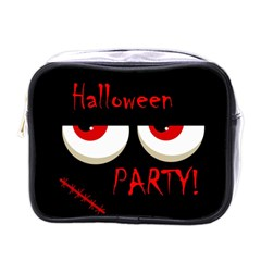 Halloween Party   Red Eyes Monster Mini Toiletries Bags by Valentinaart