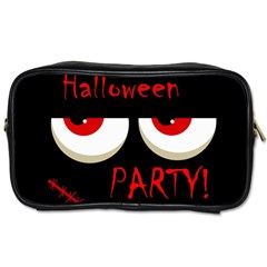 Halloween Party   Red Eyes Monster Toiletries Bags by Valentinaart